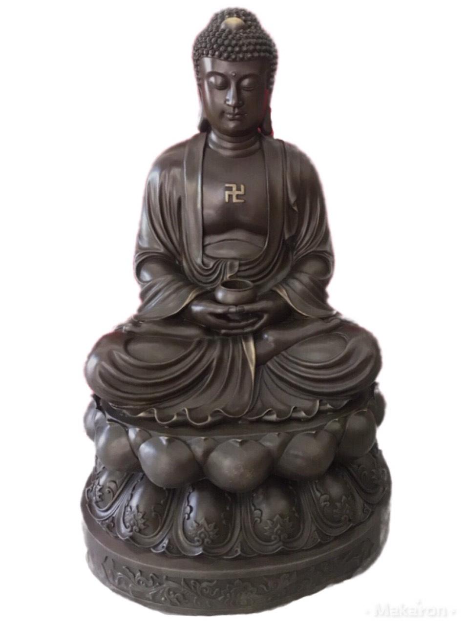 Tượng Phật A Di Đà bằng đồng cao 82cm mã T13