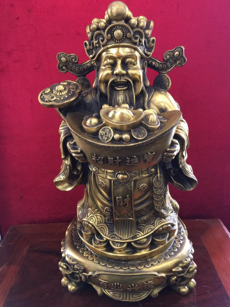 Tượng Thần Tài bằng đồng cao 43cm mã T06