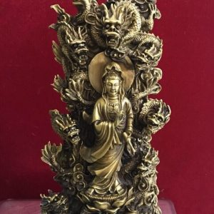 Tượng Phật Cửu Rồng bằng đồng cao 38cm mã T11