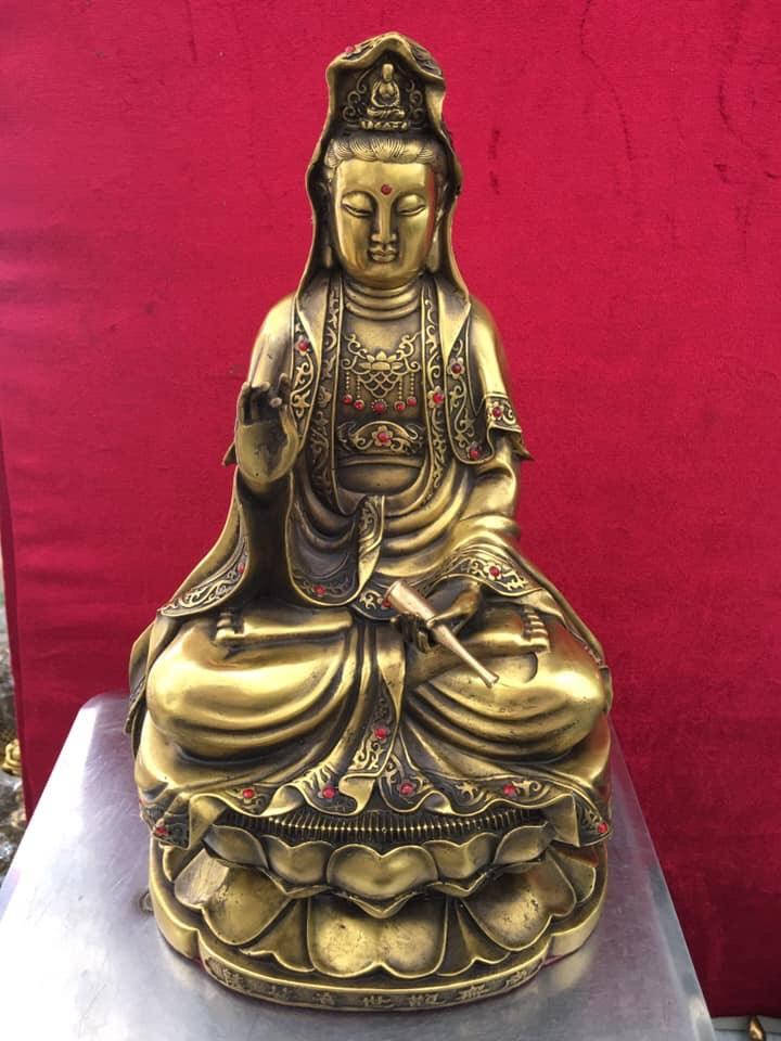 Tượng Phật Quan Âm Bồ Tát cao 38cm mã T04