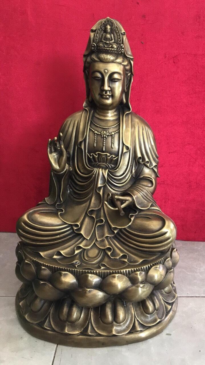 Tượng Phật Quan Âm Bồ Tát cao 46cm mã T09