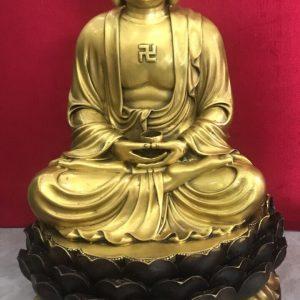 Tượng Phật Tổ bằng đồng cao 46cm mã T08