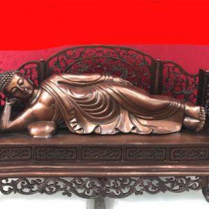 Tượng Phật Tổ nằm cao 22cm mã T03