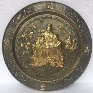 Mâm Tam Đa dát vàng 52cm mã M01