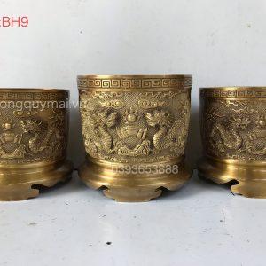 Bát hương vàng sẫm mã BH9