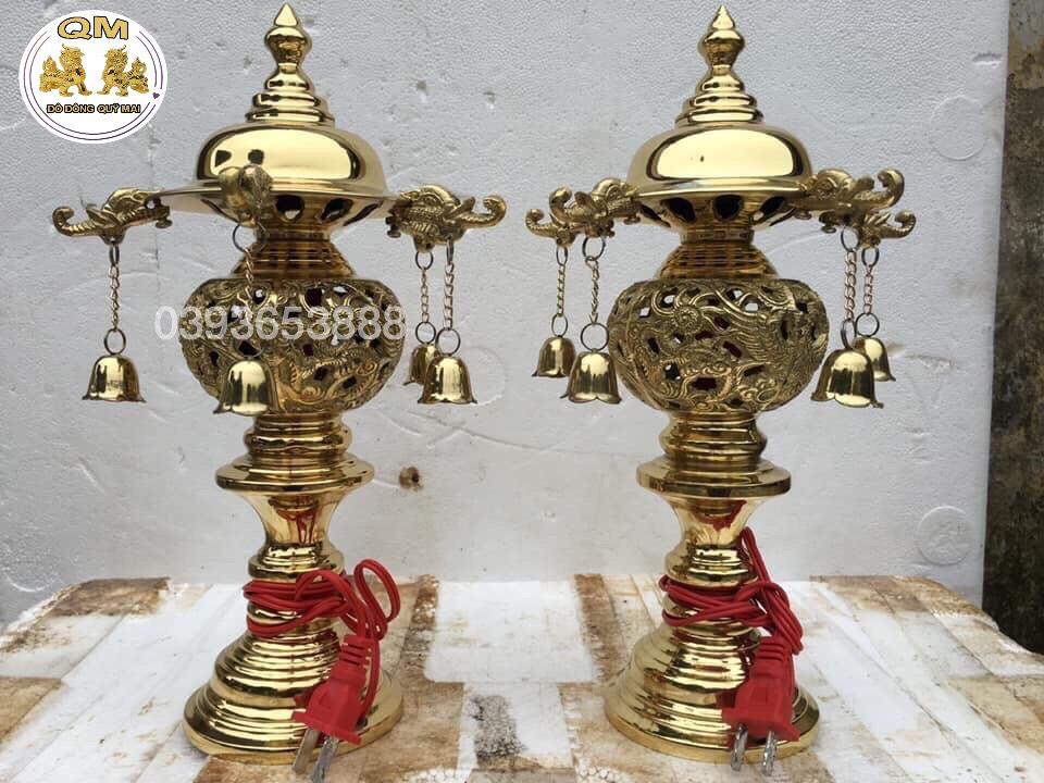 Đôi đèn chuông cao 32cm E11