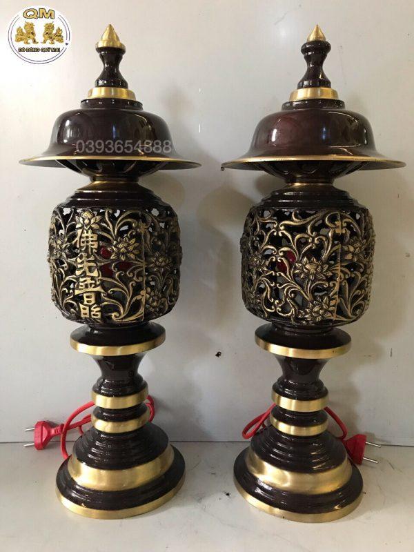Đôi đèn dứa 2 line cao 50cm E09