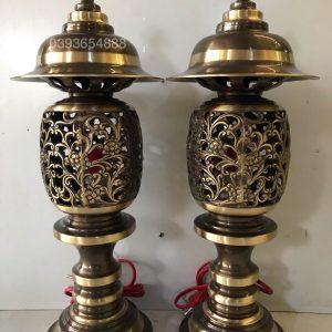 Đôi đèn dứa 2 màu cao 50cm E10