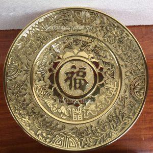 Mâm chữ phúc nho vàng rộng 39cm mã M01
