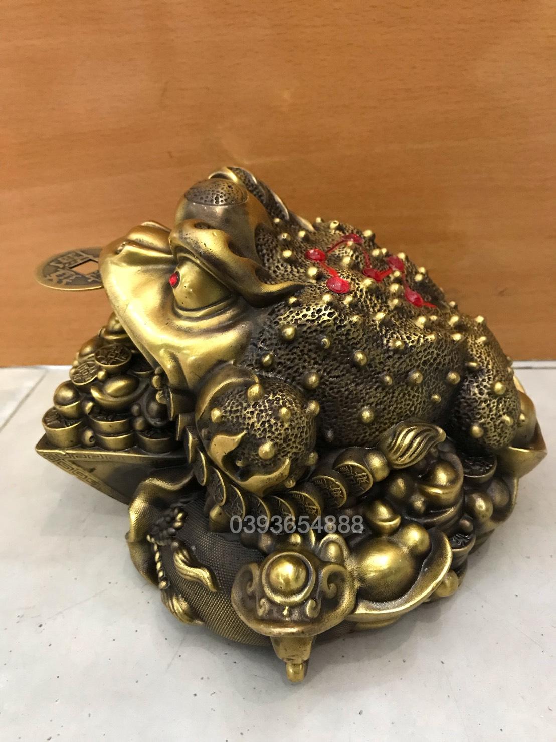 Thiềm thừ hũ vàng cao 15cm mã G18