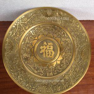 Mâm phúc nho vàng sẫm rộng 34cm mã M09
