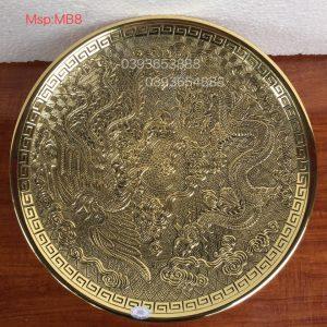 Mâm rồng phượng vàng rộng 31cm mã MB8