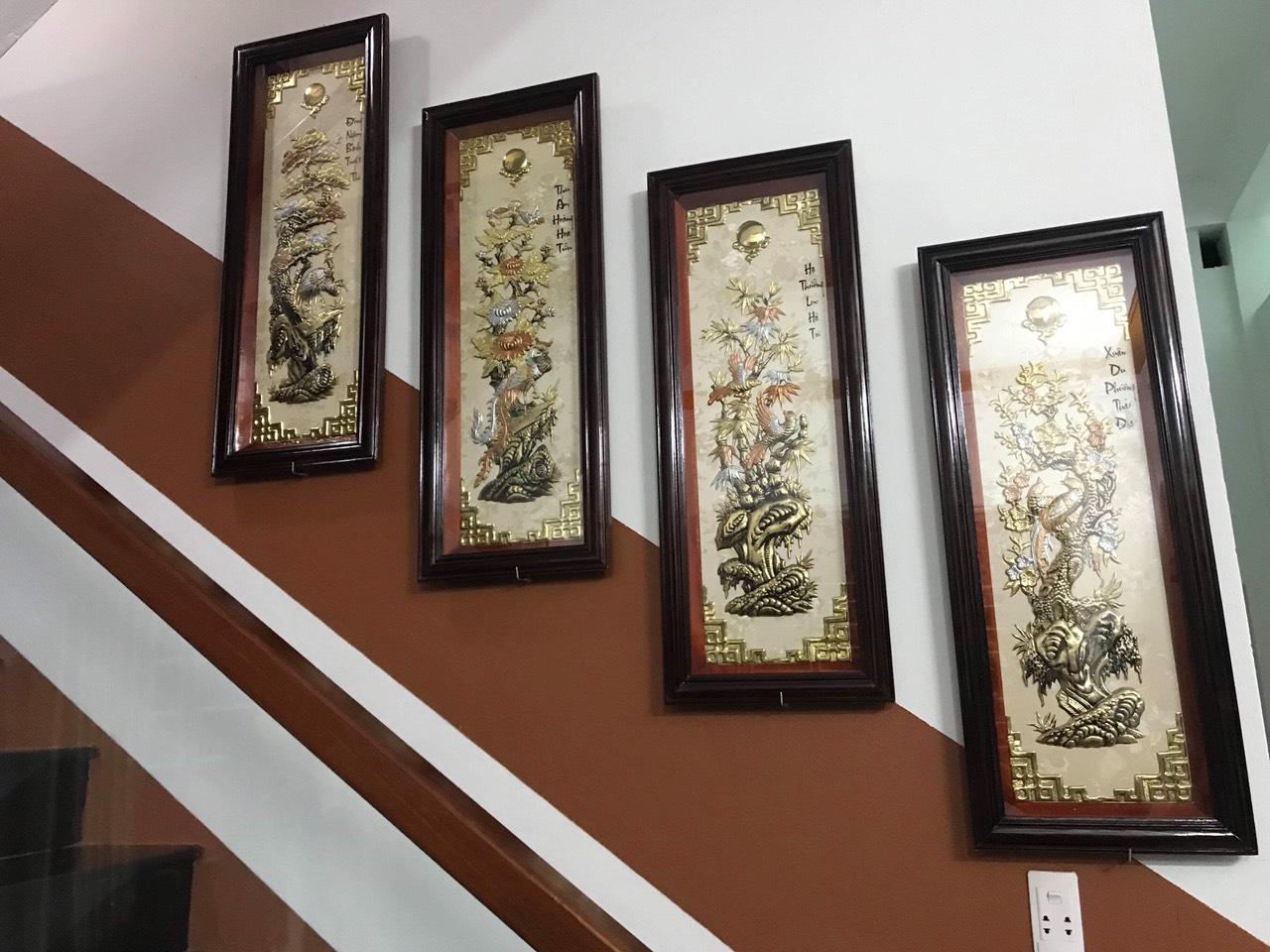 Tranh tứ quý bằng đồng: Bộ tranh trang trí sang trọng nâng tầm đẳng cấp cho ngôi nhà