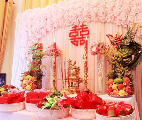 3 cách trang trí bàn thờ gia tiên trong ngày cưới 2