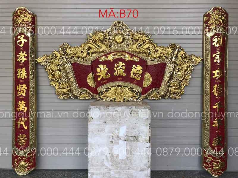 Cuốnthư câu đối dát vàng dài 135cm đến 176cm