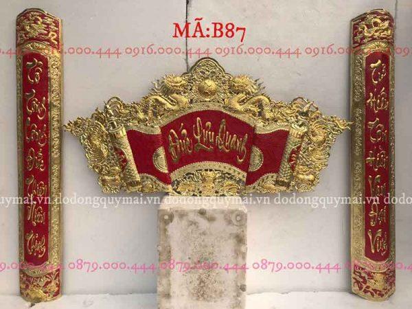 Cuốn thư câu đối dát vàng non dài 135cm đến 176cm