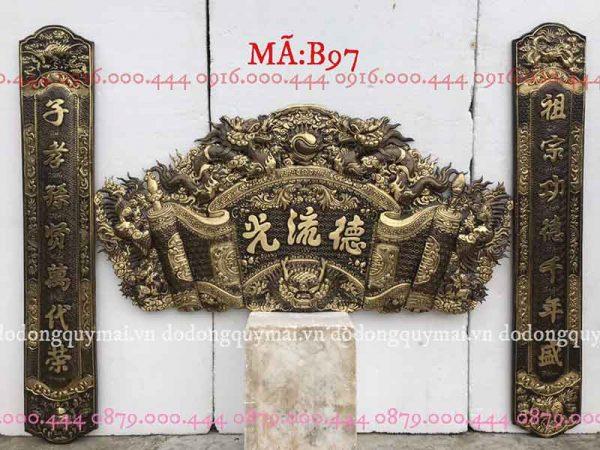Cuốn thư câu đối phẳng đầu nổi dài 135cm đến 197cm