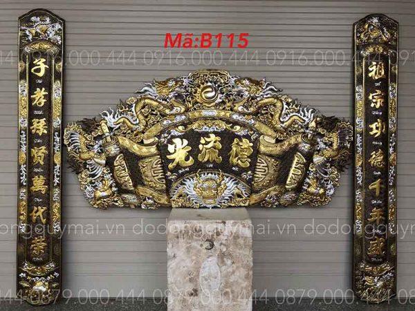 Cuốn thư câu đối Phẳng đầu nổi dát vàng bạc non dài 155cm đến 197cm