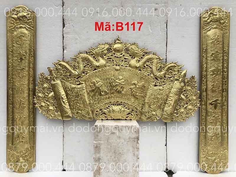 Cuốn thư câu đối Phẳng mộc dài 135cm đến 197cm