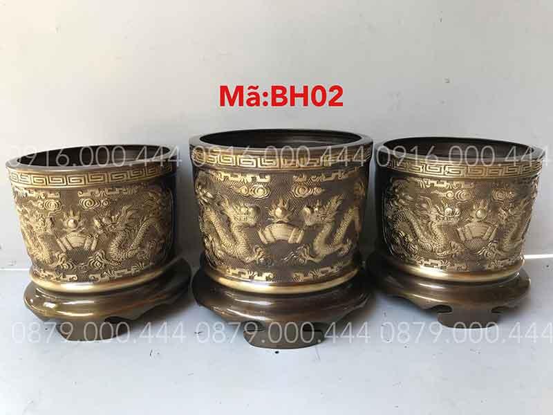 Bộ 3 bát hương hun cạo 2 màu đủ kích thước 12cm đến 35cm