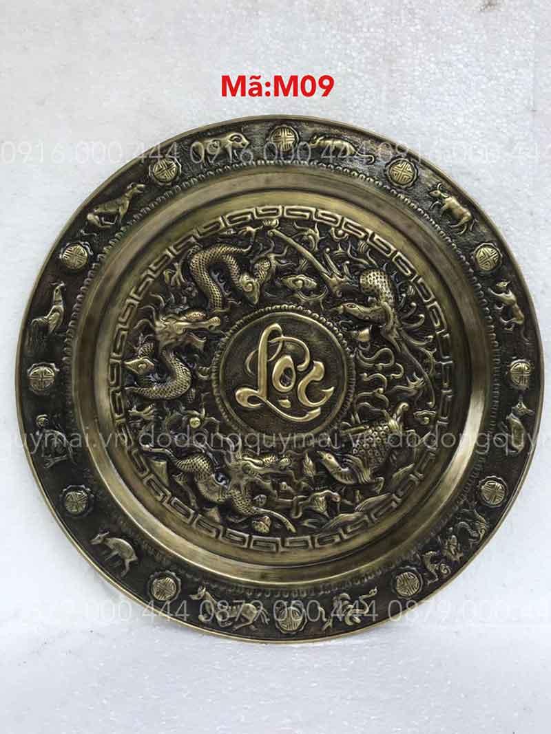 Mâm chữ lộc thư pháp giả cổ kích thước 52cm